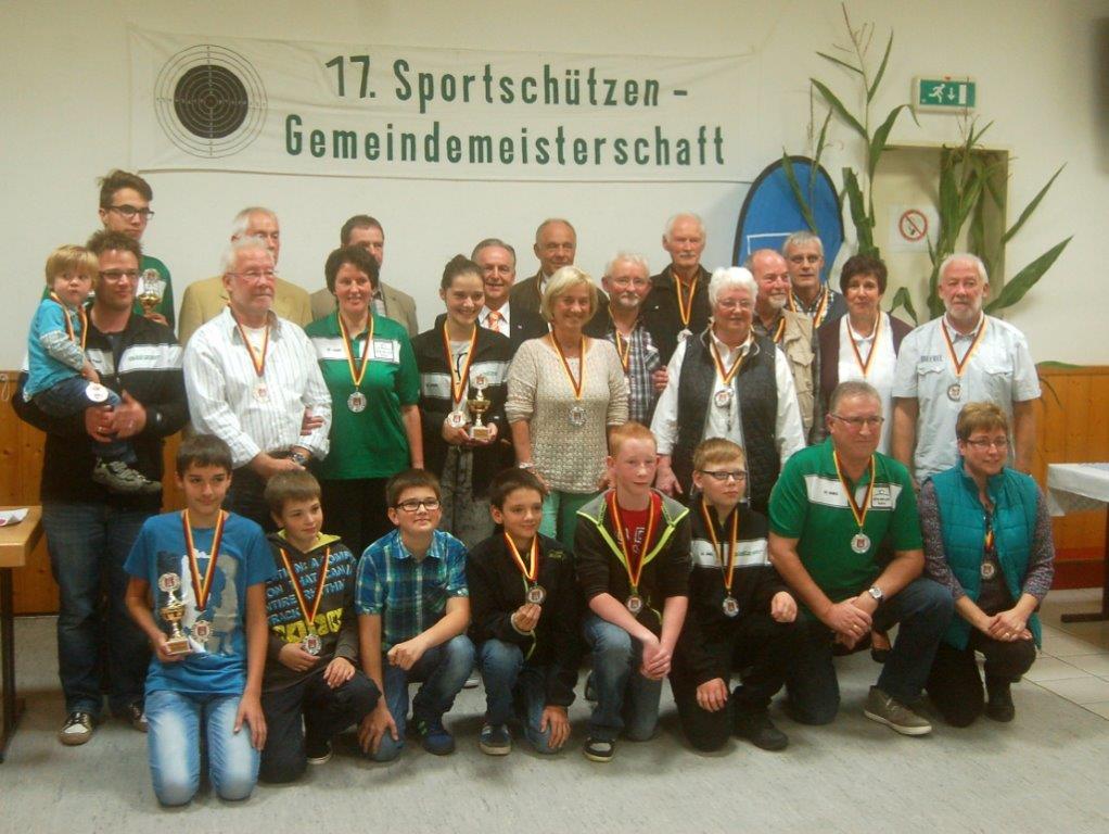 Gemeindemeisterschaften der Sportschützen in Altenhof 2014